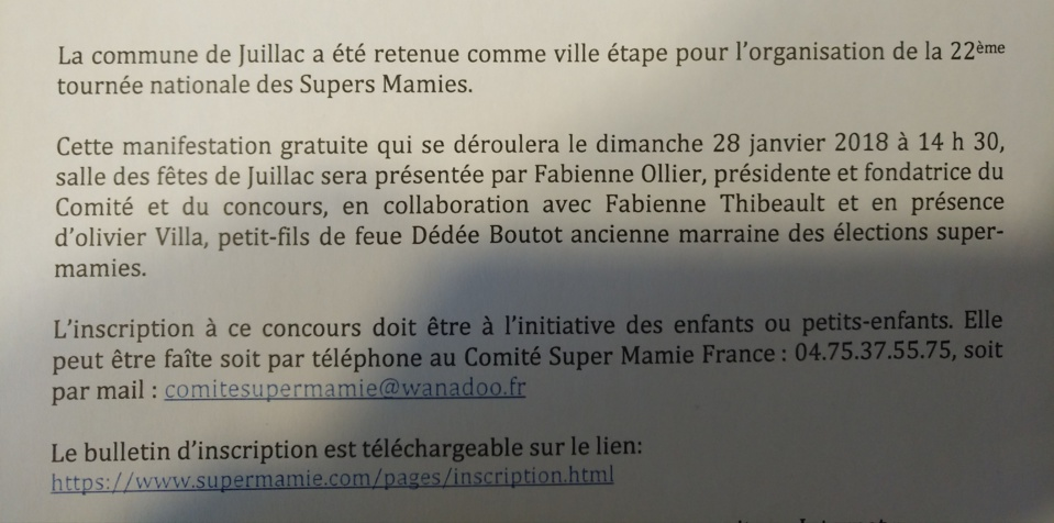 """Election Régionale """"Super Mamie"""" de la Corrèze"""