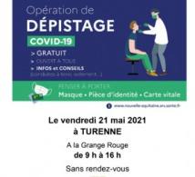 Dépistage COVID-19 à TURENNE